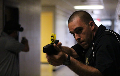 police in shooter drill